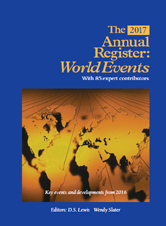 The 2017 Annual Register: World Events 2016 by D.S. Lewis, Wendy Slater