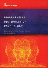 Book jacket for Biographical Dictionary of Psychology