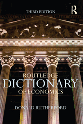 Book jacket for Routledge Dictionary of Economics