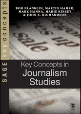 Key Concepts in Journalism Studies book cover image.