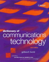 Book jacket for Dictionary of Communications Technology