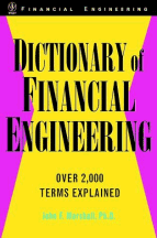 Book jacket for Dictionary of Financial Engineering