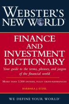 Book jacket for Webster's New World Finance and Investment Dictionary