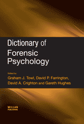 Book jacket for Dictionary of Forensic Psychology