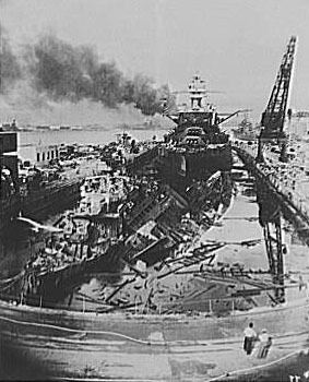 Pearl Harbor  Credo Reference Pearl Harbor Bombing Uss Downes And Cassin  Fsaowi Library Of  Congress