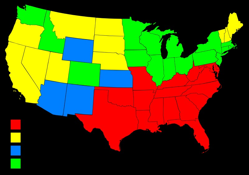 Civil Rights Movements United States Credo Reference - Map-of-segregation-in-us