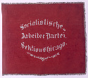 Red banner of the German Socialist Party of...