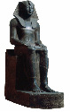 This black granite statue is believed to depict...