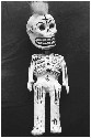 Papier mâchÉ Days of the Dead skeleton toy