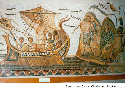 This third-century-CE Roman mosaic depicts...