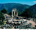 The sanctuary of Athena at Delphi. Many Greeks...