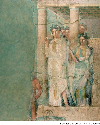 An ancient Roman fresco depicting Iphigeneia in...