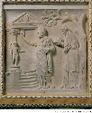 This Roman bas-relief carving shows King Minos...