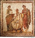 This mosaic from the third century CE depicts...