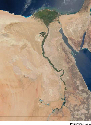 This satellite photograph of Egypt shows clearly...