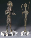 These two copper figures from a hoard of...