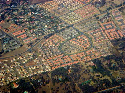 Aerial view of a residential area of Gaborone.