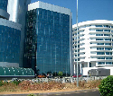 The center of Gaborone features many new office...