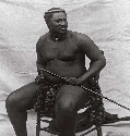 Photograph, dated about 1875, of Zulu king...