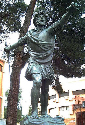 Bronze statue of Spanish conquistador Vasco Nunez...