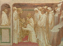 Saint Benedict admitting Saints Maurus and Placidus into the Benedictine Order: Predella Panel