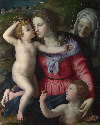 The Madonna and Child with Saint John the Baptist and a Female Saint, probably Saint Anne