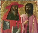 39. Masaccio, Saints Jerome and John the Baptist,...