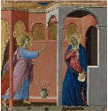 5. Duccio, The Annunciation, 1311. This is a...