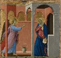 68. Duccio, The Annunciation, 1311, egg tempera...