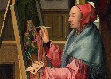 Follower of Quinten Massys, Saint Luke painting...