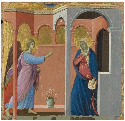 17. Duccio di Buoninsegna, The Annunciation,...
