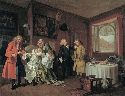 William Hogarth, Marriage A-la-Mode: VI. The...