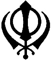 The Sikh insignia contains two...