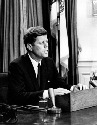 President John F. Kennedy delivers a live civil...