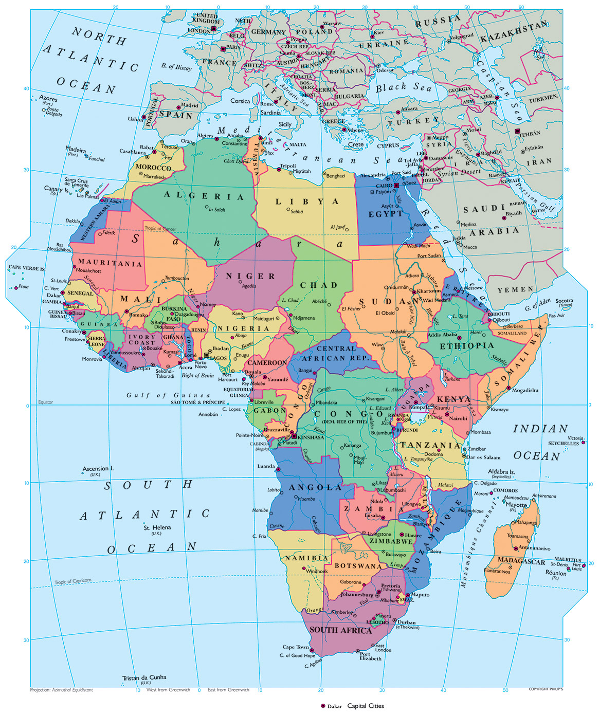 Geography Detailed Map Of Africa.Geography African History By Credo Reference Library At Dallas