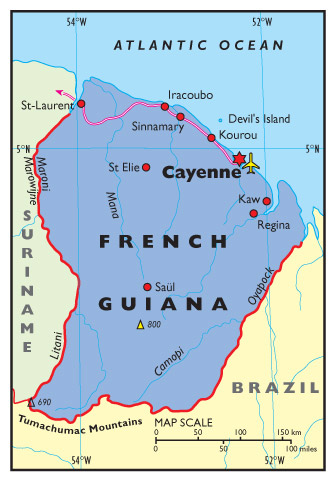 French Guiana Credo Reference - South america french guiana map