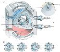 The Wankel rotary engine (A) compresses and...