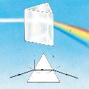 When light hits a prism it is refracted by the...