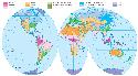 This map of the Eastern and Western Hemispheres...