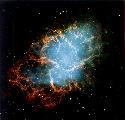 Crab Nebula The remnant of a supernova that...
