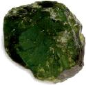 Crystal fragment of uvarovite garnet