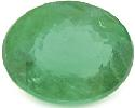 Brilliant-cut oval emerald