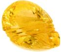 Carved citrine gem from Brazil, 12.80 carats