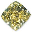 Cushion-cut yellow diamond