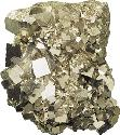 Mass of interpenetrating cubic pyrite crystals