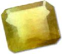 Yellow ovtagonal step-cut baryte