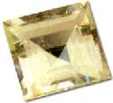 Square-cut amblygonite gem