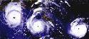 Time‐lapse satellite images of Hurricane Andrew,...