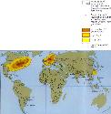Map showing regions with high concentrations of...