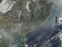 Smog obscures the south‐east coast of China,...